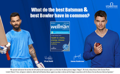 James Anderson & Virat Kohli for Wellman