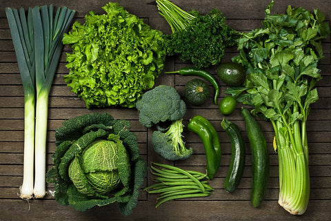 Iron in leafy vegetables