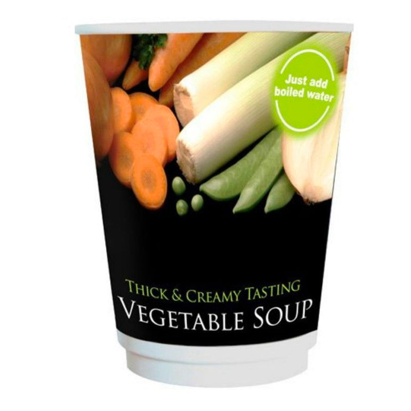 Nescafe & Go Compatible - Foil Sealed Drinks: Vegetable Soup - Sleeve Of 10 Cups
