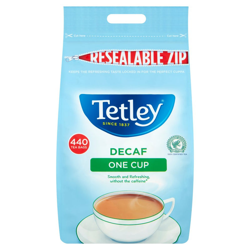 Tetley Tea: Decaf One Cup Tea Bags For Caterers - 440 Bags
