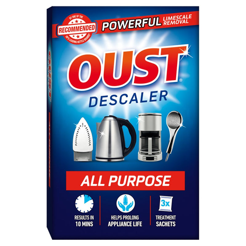Oust All Purpose Limescale Cleaner Remover / Descaler - 3 Sachets