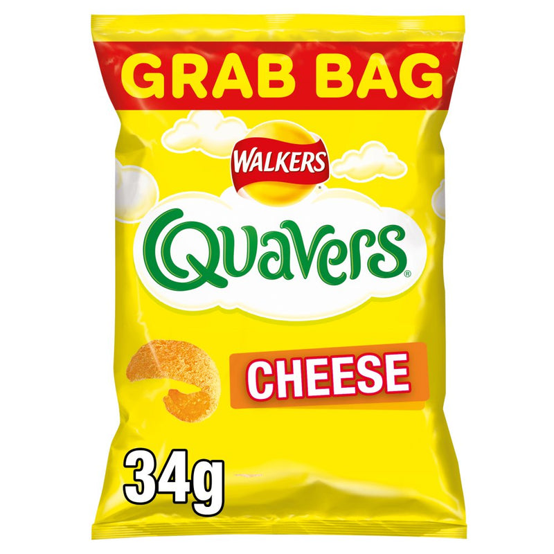 Walkers Crisps: Cheese Quavers - 32 x 20g Case