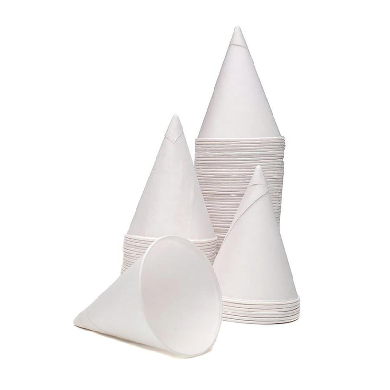 4oz Paper Water Cones - Case of 5000