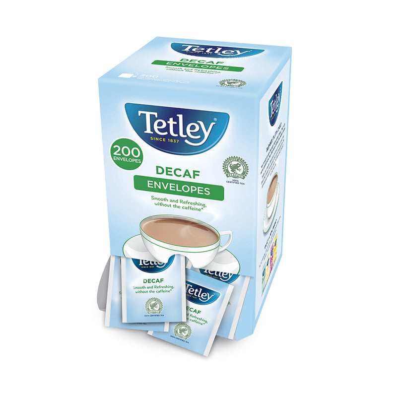 Tetley Decaf Tea: 200 Individually Wrapped Tea Bags Decaf Envelopes