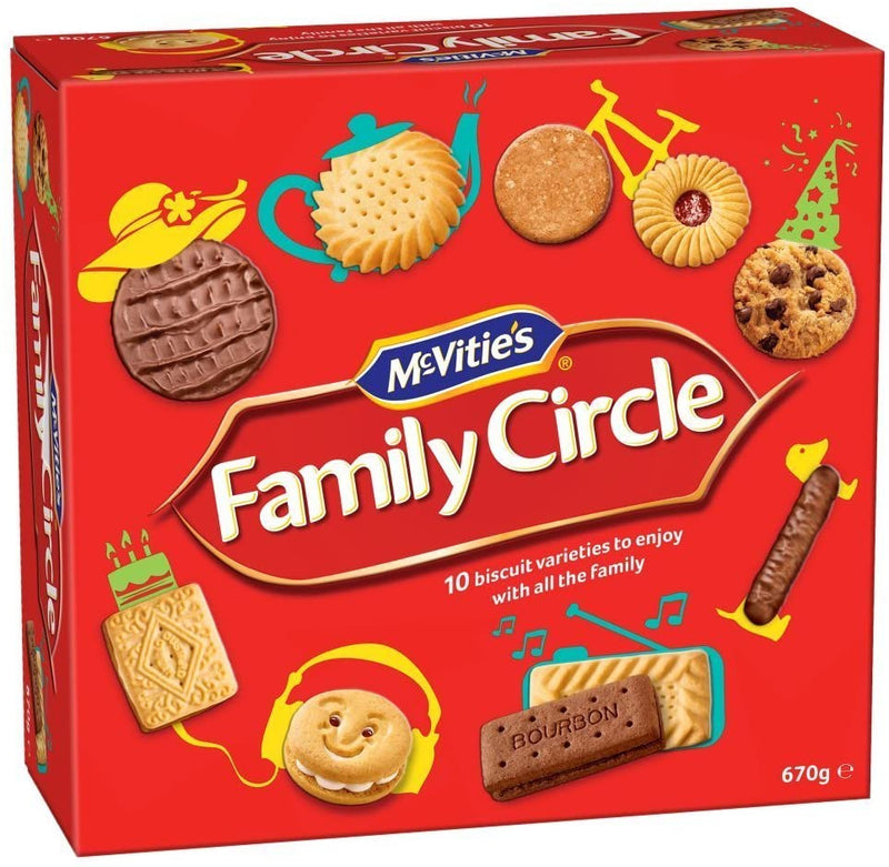 McVities: Family Circle Biscuit Selection - 670g