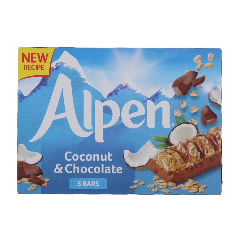 Alpen Cereal Bars Coconut & Chocolate - 5 Pack