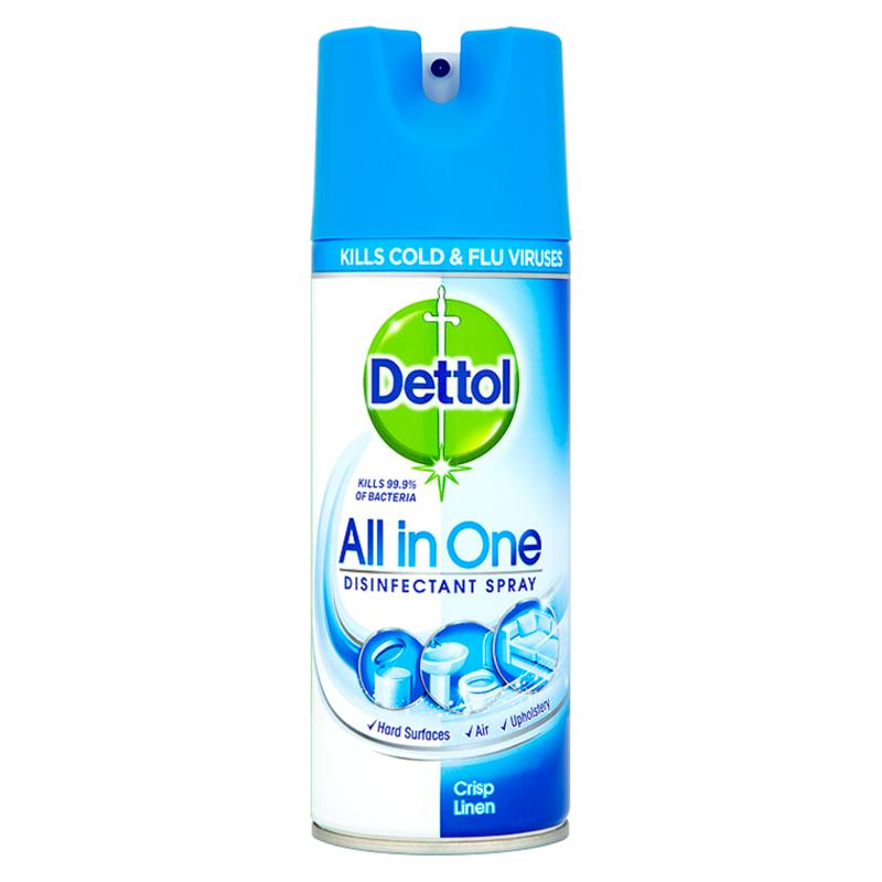 Dettol All In One Disinfectant Spray 400ml Crisp Linen