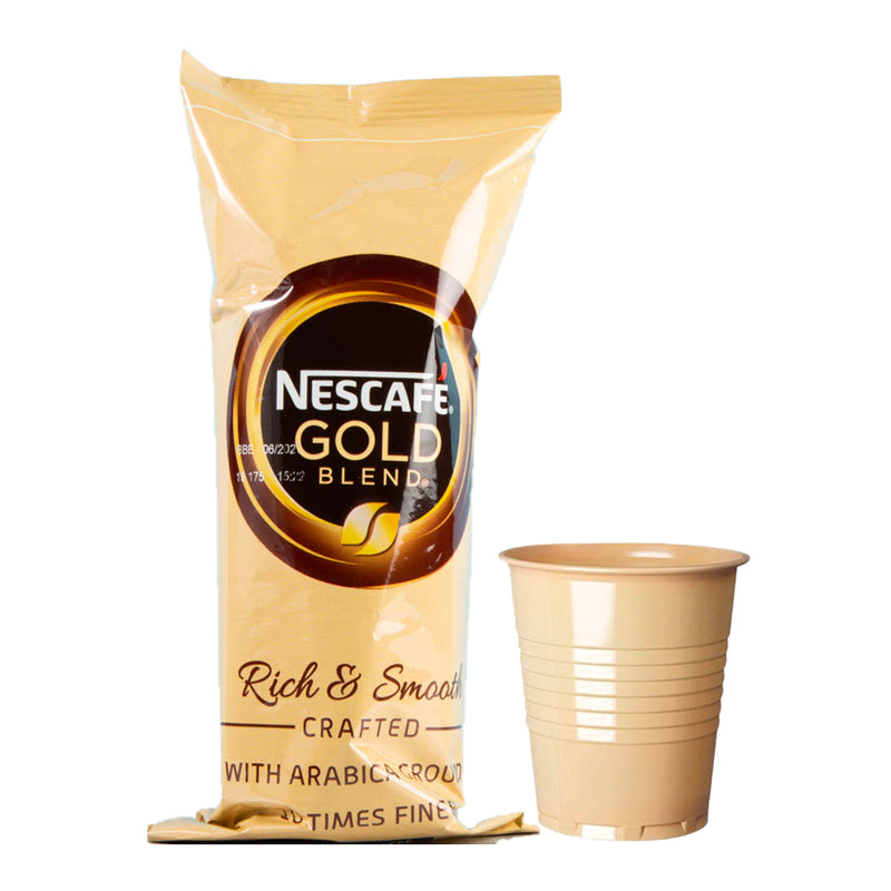 Incup Vending Drinks - Nescafe Gold Blend White Coffee With Sugar - Sleeve of 25 Cups