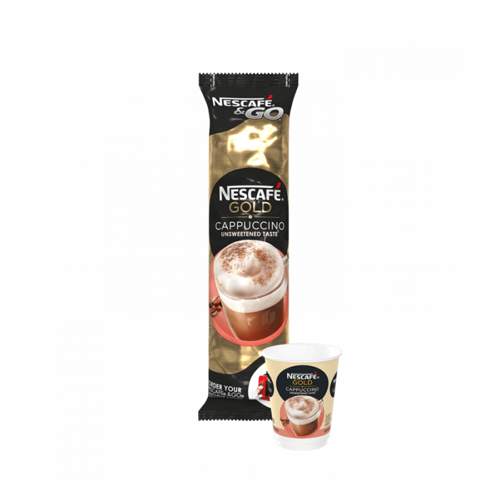 Nescafe & Go - Foil Sealed Drinks: Gold Cappuccino - Sleeve Of 8 Cups