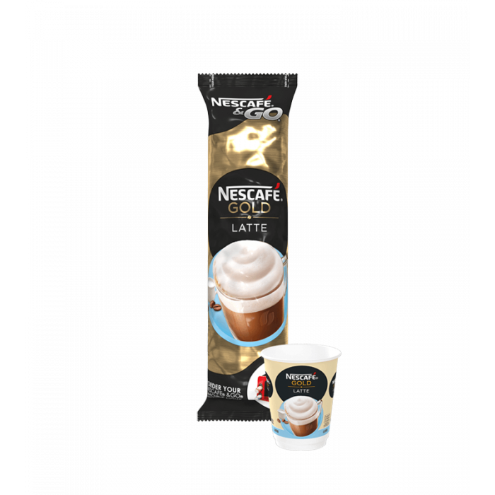 Nescafe & Go - Foil Sealed Drinks: Gold Regular Latte - Sleeve Of 8 Cups