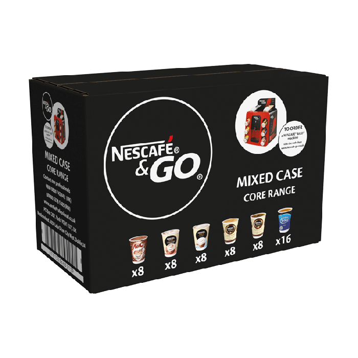 Nescafe & Go: Saver Pack - Core Drinks Pack (56 Drinks)