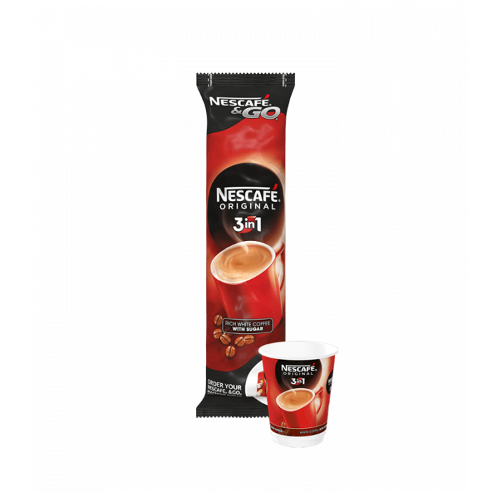 Nescafe & Go - Foil Sealed Drinks: Nescafe Original 3 In 1 Coffee - Sleeve Of 8 Cups