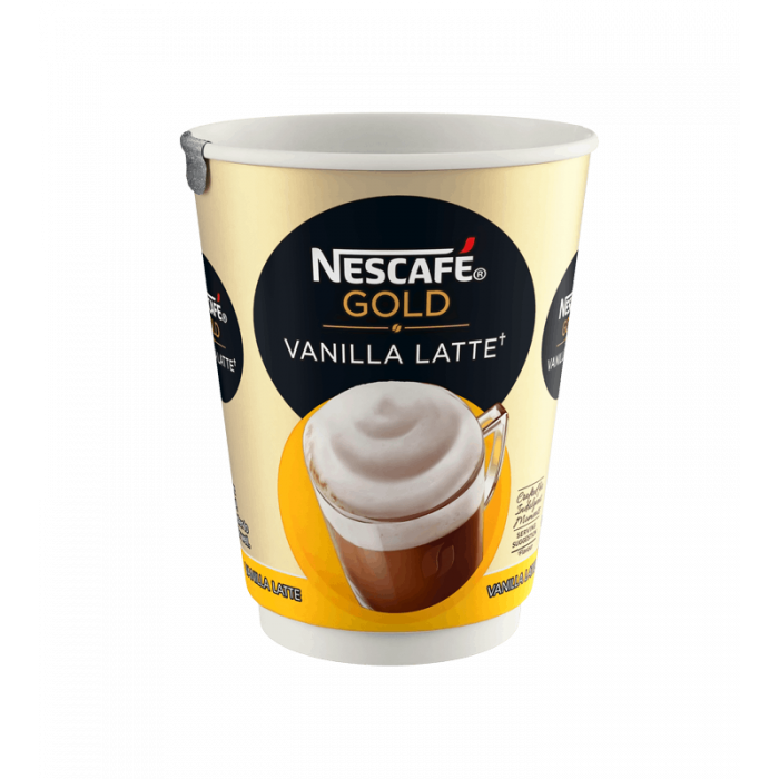 Nescafe & Go - Foil Sealed Drinks: Gold Vanilla Latte - Sleeve Of 8 Cups