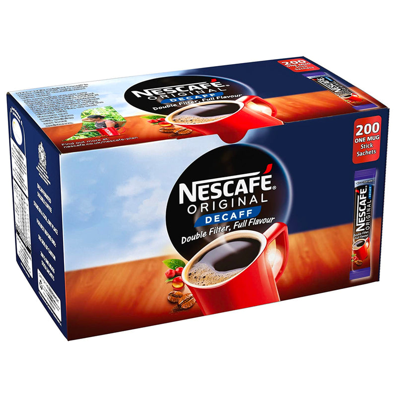 Nescafe Original Decaff: Individual Coffee Stick Portions - Pack Of 200