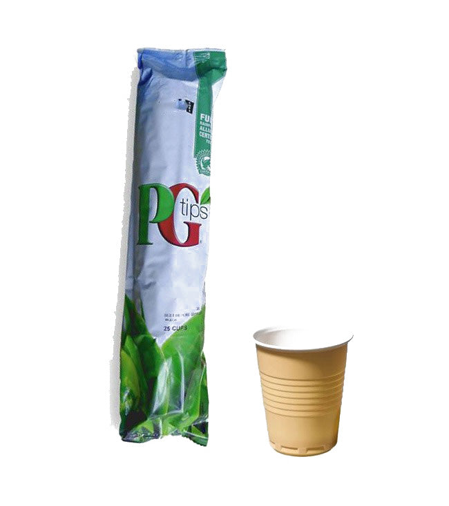 Incup Vending Drinks - PG Tips Tagged Tea White With Sugar - Case Of 300 Cups