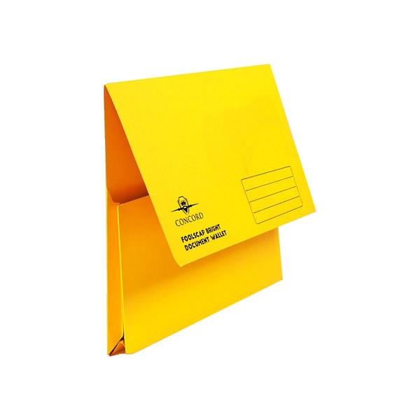 Pukka Brights: Document Wallets Foolscap Half Flap - Pack of 10 Yellow
