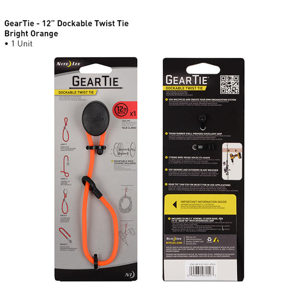 Gear Tie Dockable Twist Ties