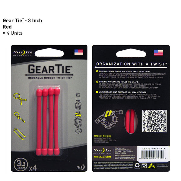 "Gear Ties - 3"", 6"" and 12"""