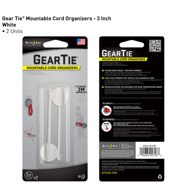Gear Tie Mountable Cord Organizer