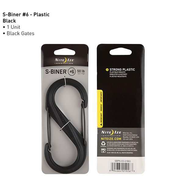 S-Biner (plastic) Sizes #6, #8, #10