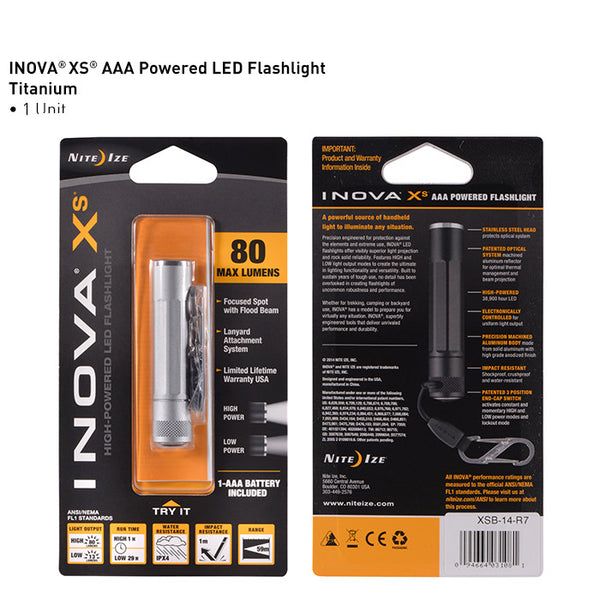 INOVA XS - AAA Flashlight