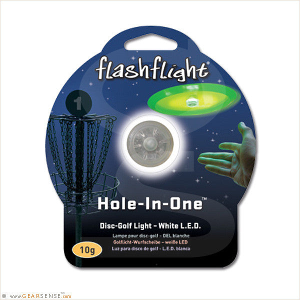 flashflight hole-in-one led golf disc package