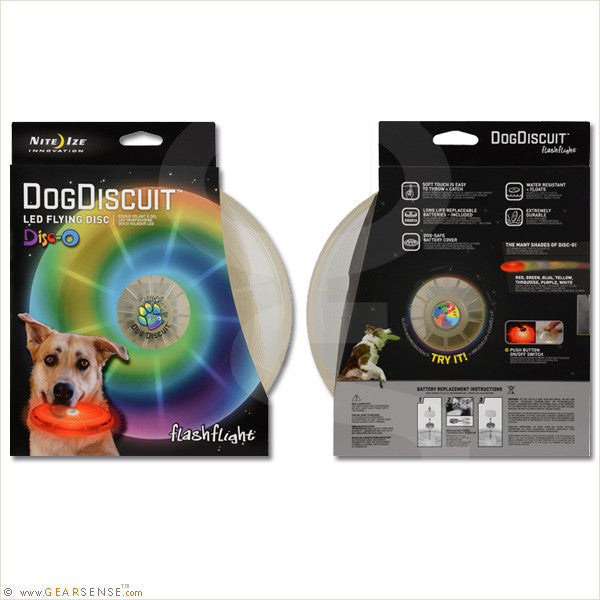 led light-up dog discuit package