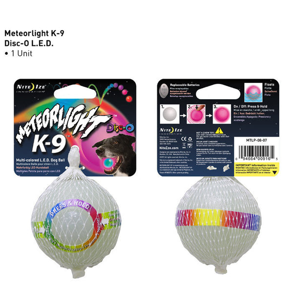 Meteorlight K-9 LED Light-Up Dog Ball