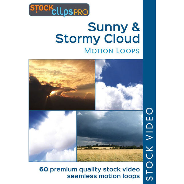 Sunny & Stormy Cloud GIF Motion Loops (Download)
