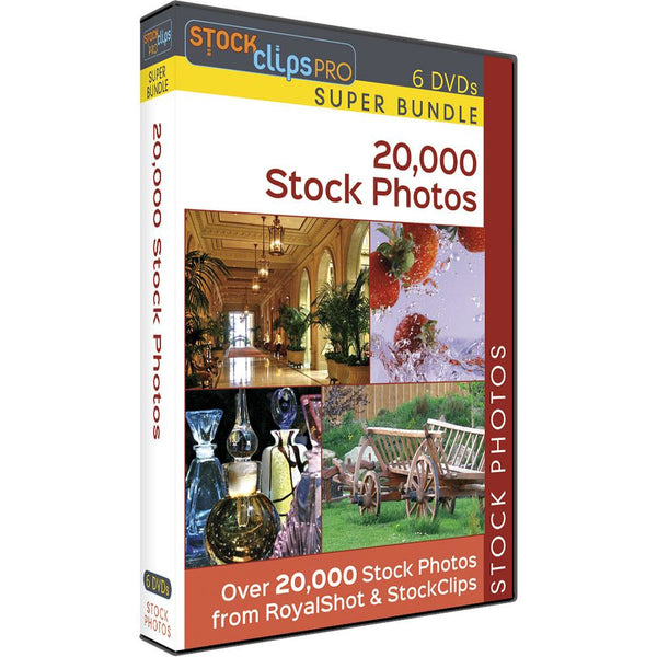 20,000 Stock Photos - 6 DVD Super Bundle