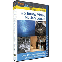 HD 1080p Video Motion Loops - 8 DVD Super Bundle