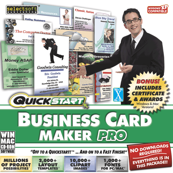 Quickstart Business Card Maker Pro (Download)