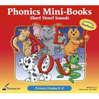 Phonics Mini Books - Short Vowel Sounds (Gr. K-2)