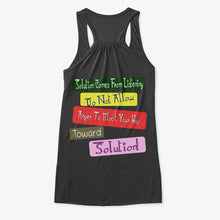 "Load image into Gallery viewer, Success Formula Women's Flowy Tank Top ""Toward Solution"""