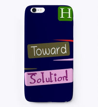 "Load image into Gallery viewer, iPhone Case ""Toward Solution"" Expression Design"