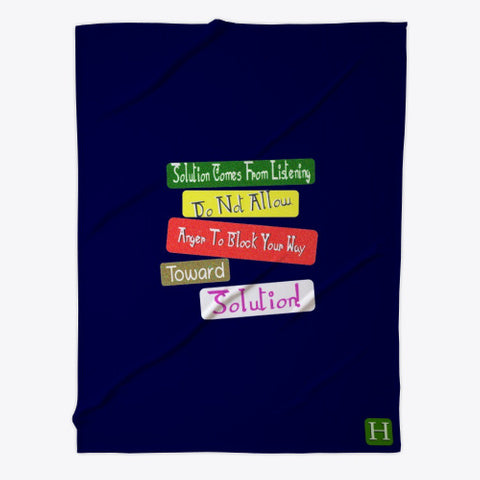 Toward Solution Quote Fleece Blanket Expression Design