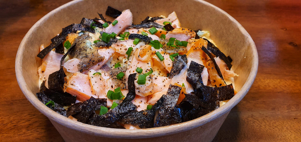 MK Salmon Mentaiko Potato Salad
