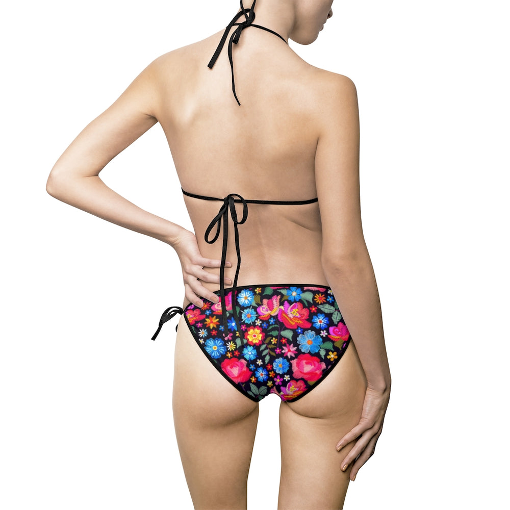 Load image into Gallery viewer, Women's Bikini Swimsuit Roots Technicolor