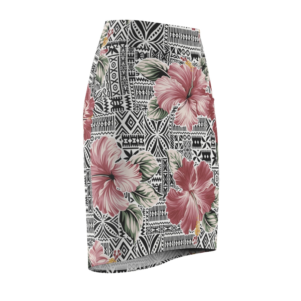 Load image into Gallery viewer, Women's Pencil Skirt Pink Bloom