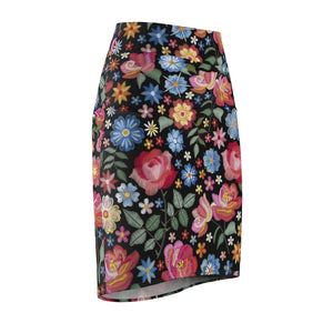Load image into Gallery viewer, Women's Pencil Skirt Roots Black