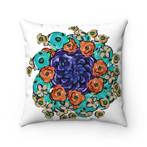 Square Sitting Pillow Bouquet W