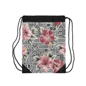 Load image into Gallery viewer, Drawstring Bag Pink Bloom