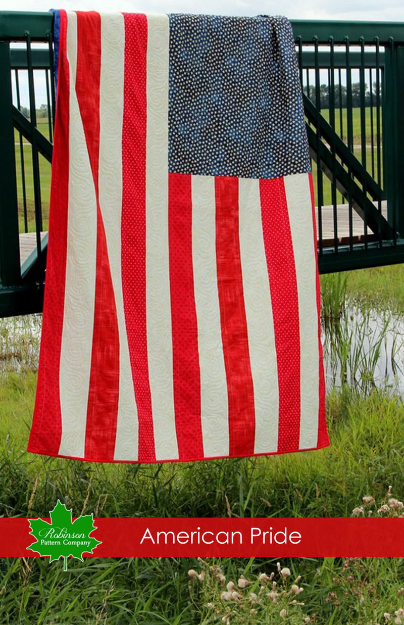 American Pride Quilt Pattern - Printed Instructions