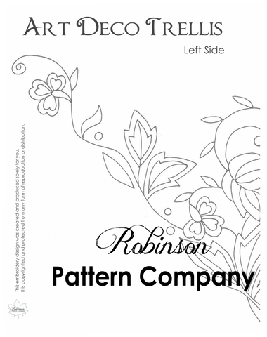 Art Deco Trellis Hand Embroidery pattern