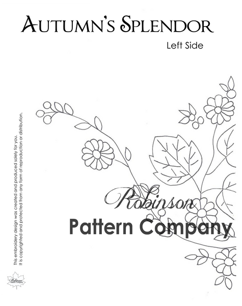 Autumn's Splendor Hand Embroidery pattern