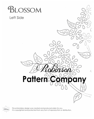 Blossom Hand Embroidery pattern