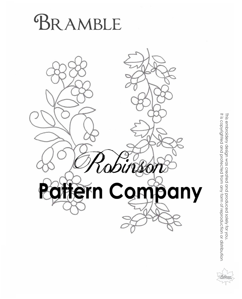 Bramble Hand Embroidery pattern