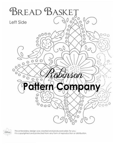 Bread Basket Hand Embroidery pattern