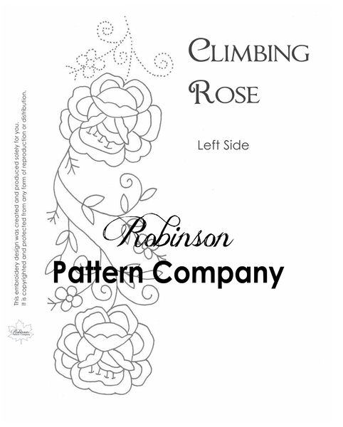 Climbing Rose Hand Embroidery pattern