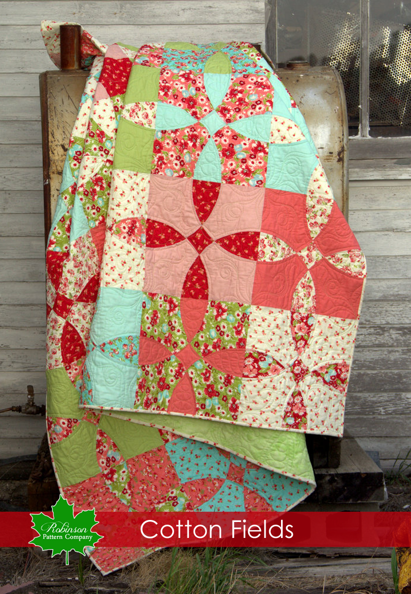 Cotton Fields Quilt Pattern  - Printed Instructions